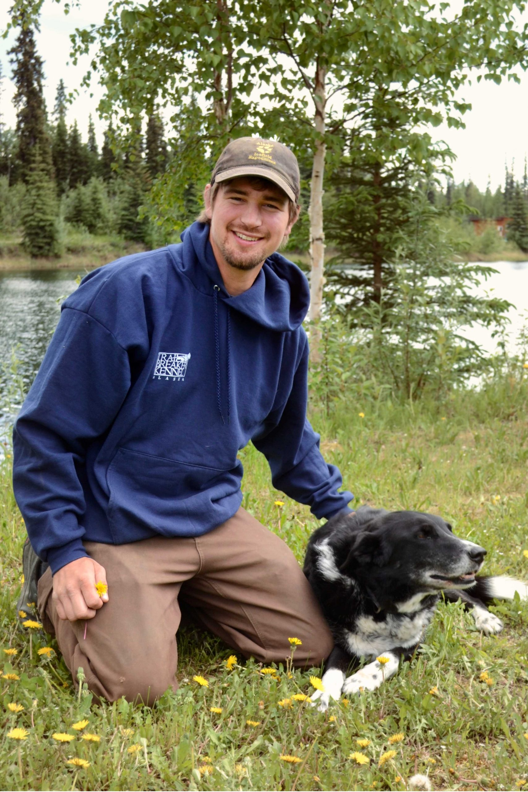 Trail Breaker Musher Riley with Dog