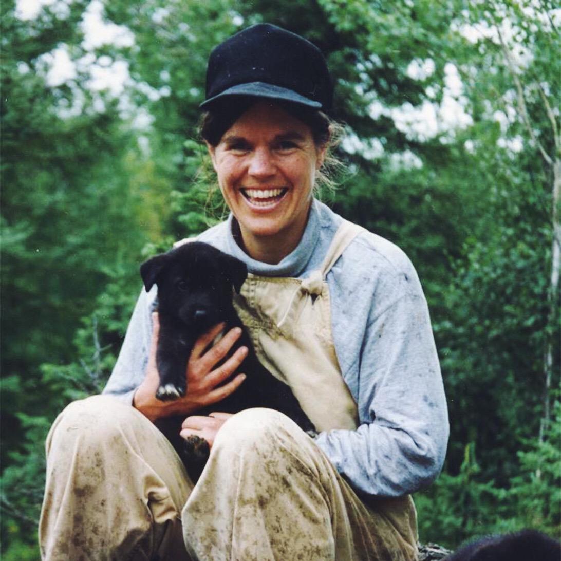 Susan Butcher & Alaskan Husky Pup